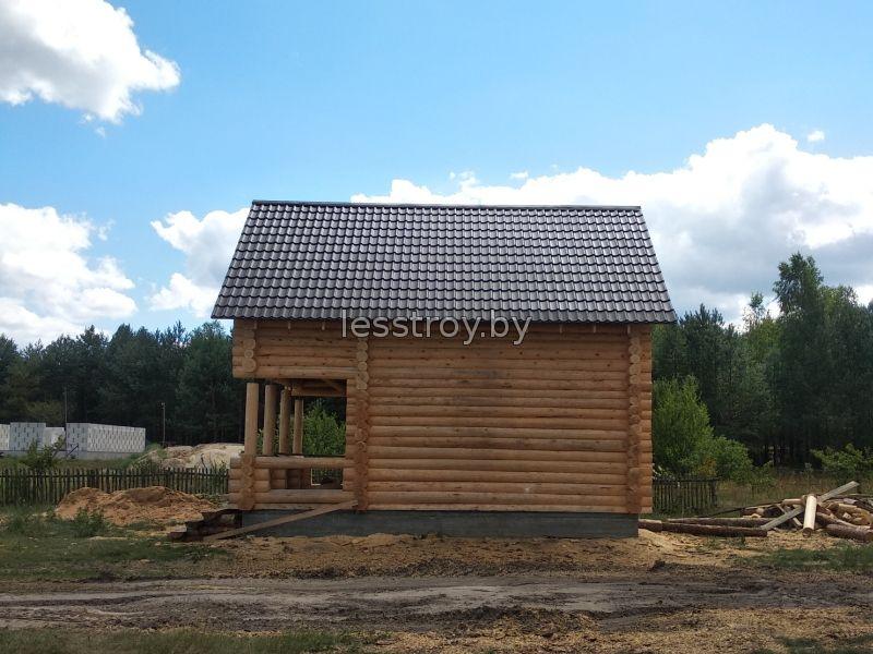Деревянный дом проект №1 строительство