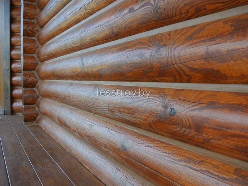 Отделка шва в деревяном доме герметиком