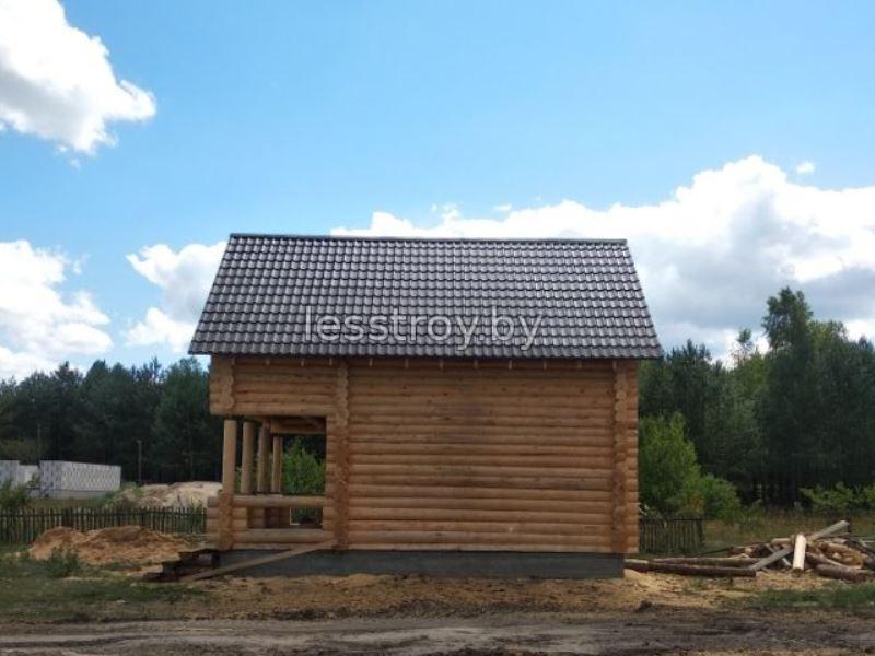 Деревянный дом из бревна построить в Минске