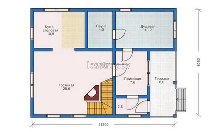 План дом из бревна.