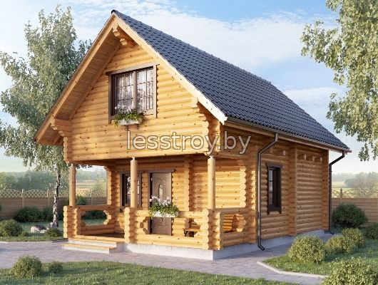 Дом из дерева построить недорого